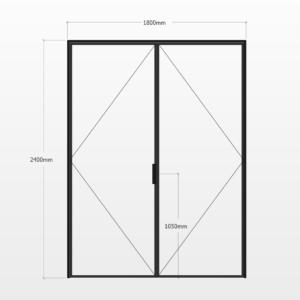Design Plus Steel DBL Door F1
