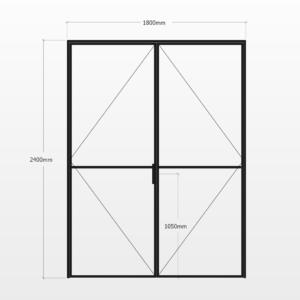 Design Plus Steel DBL Door F2