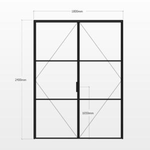 Design Plus Steel DBL Door F3