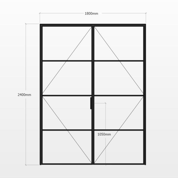 Design Plus Steel DBL Door F4