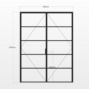 Design Plus Steel DBL Door F5