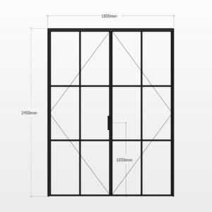 Design Plus Steel DBL Door F6