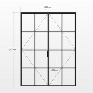 Design Plus Steel DBL Door F8