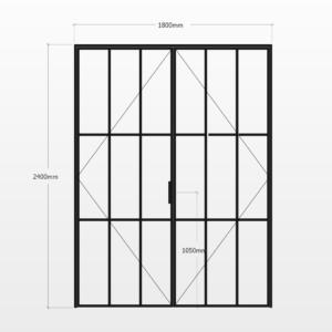 Design Plus Steel DBL Door F9