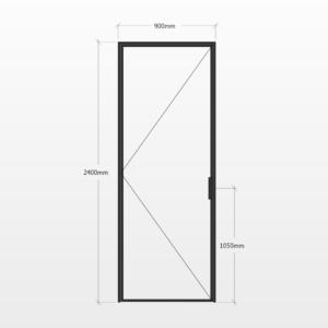 Design Plus Steel Door F1 Design