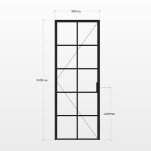 Design Plus Steel Door F10 Design