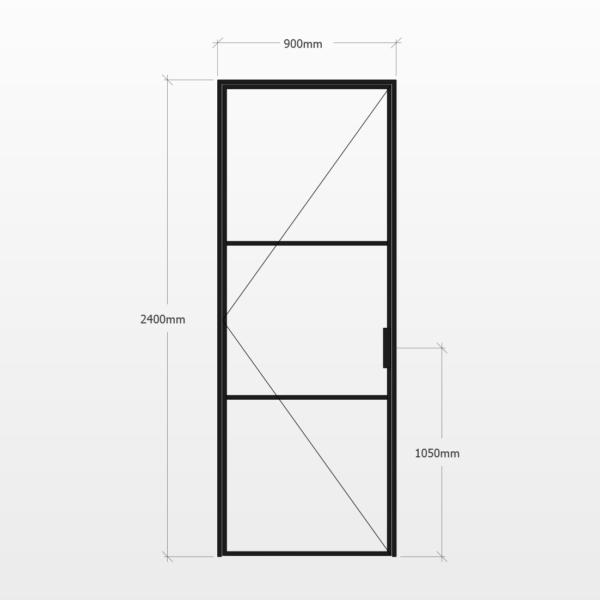 Design Plus Steel Door F3 Design