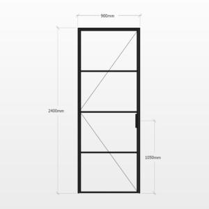 Design Plus Steel Door F4 Design
