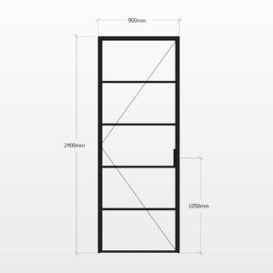 Design Plus Steel Door F5 Design