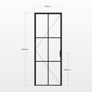 Design Plus Steel Door F6 Design