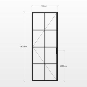 Design Plus Steel Door F8 Design