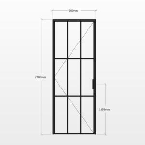 Design Plus Steel Door F9 Design